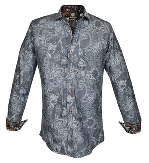 Gavel Men's Villena Grey Fashion Dress Shirt