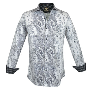 Gavel Valencia White Fashion Dress Shirt