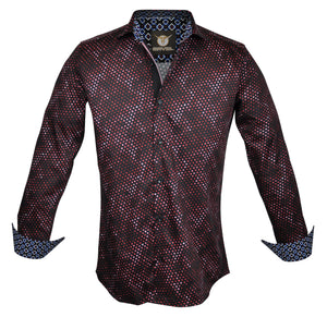 Gavel Messina Red Fashion Dress Shirt