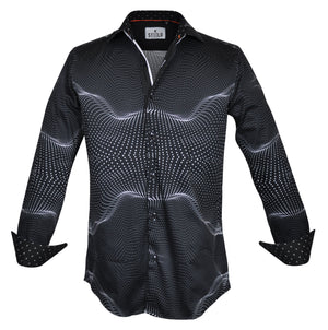 Steelo Delray Black Fashion Dress Shirt
