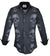 Steelo Hidden Skull Black Fashion Dress Shirt
