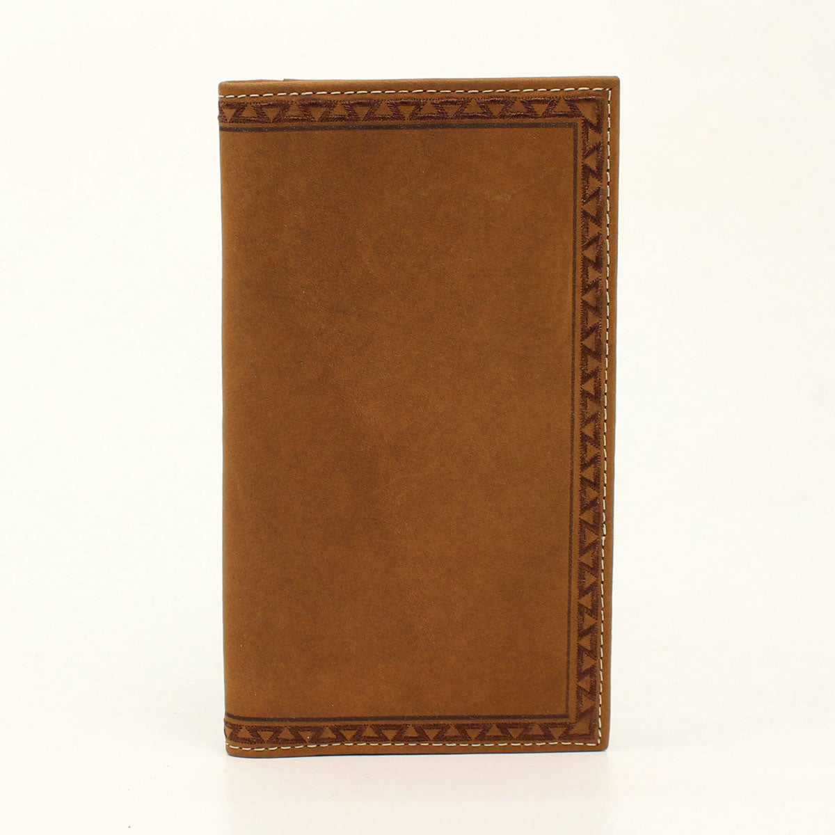 Ariat Aztec Embroidered Edge Med. Brown Rodeo Leather Wallet