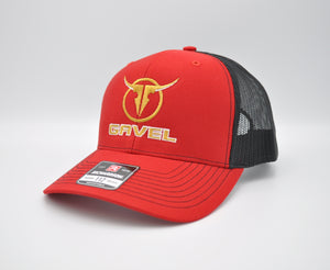 Gavel Logo R112 Red Cap