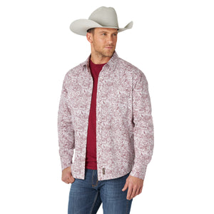 Wrangler Men's Retro Premium Red/White Snap Shirt