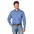 Wrangler Men's 20X Competition Blue Floral Snap Shirt