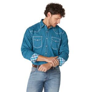 Wrangler Men's 20X Competition Blue Snap Shirt
