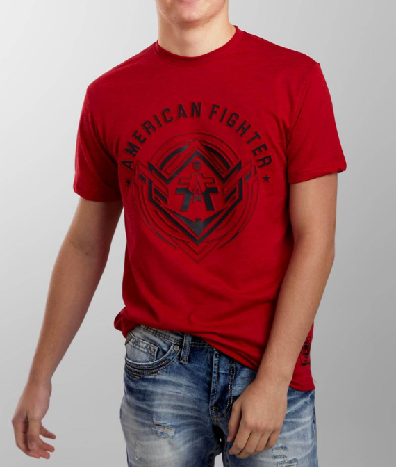 American Fighter Gurley T-Shirt Cherry