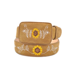 Luma Women's Girasol Western Leather Belt Tan