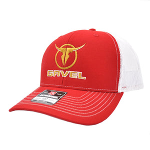 Gavel Logo R112 Red/White Cap
