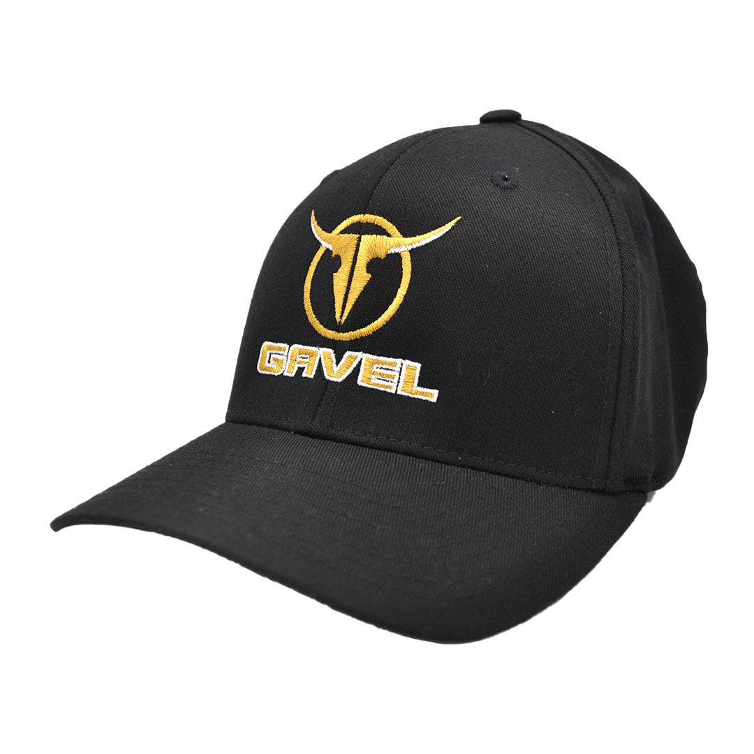 Gavel Logo Flexfit Twill Black Cap