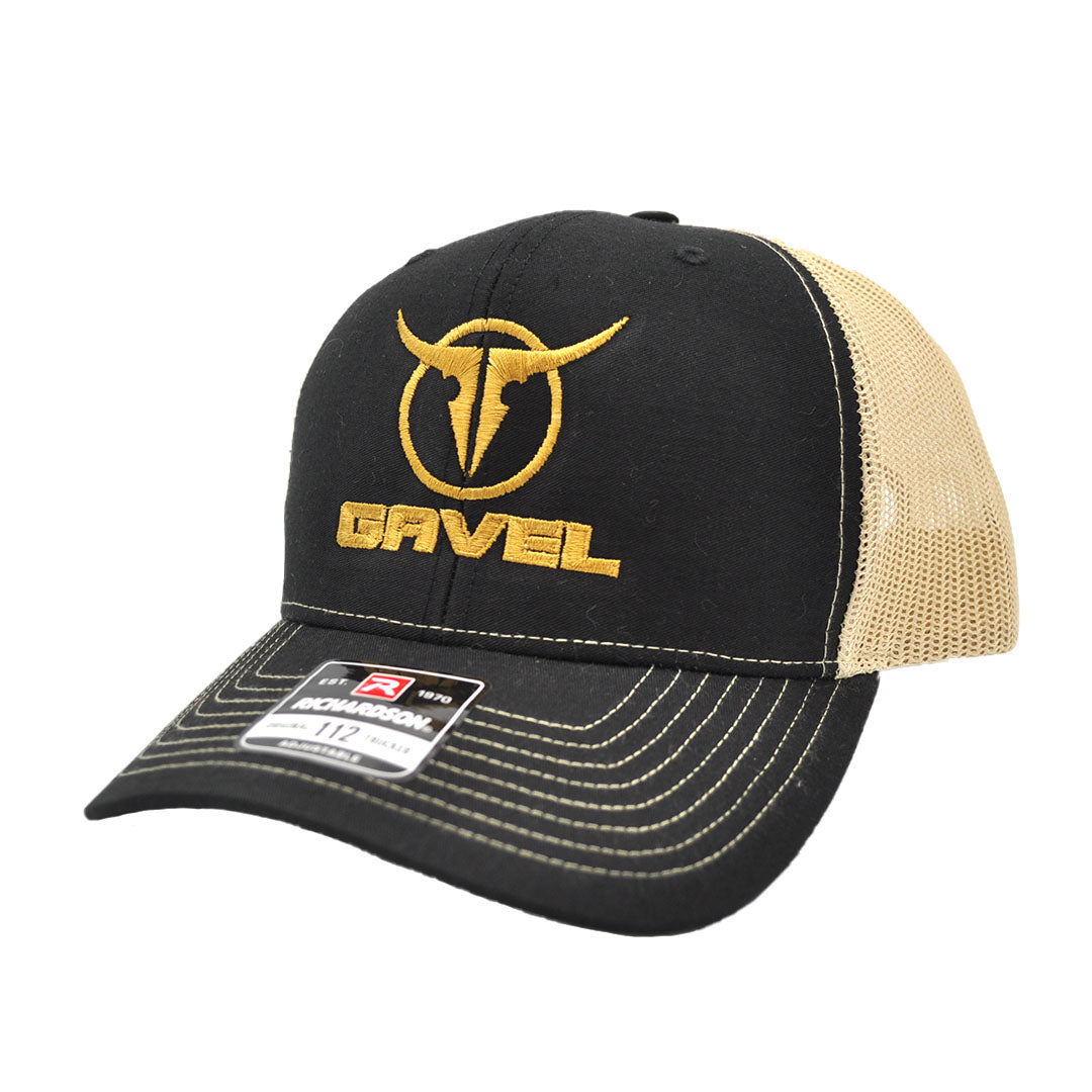 Gavel Logo R112 Black/Gold Cap