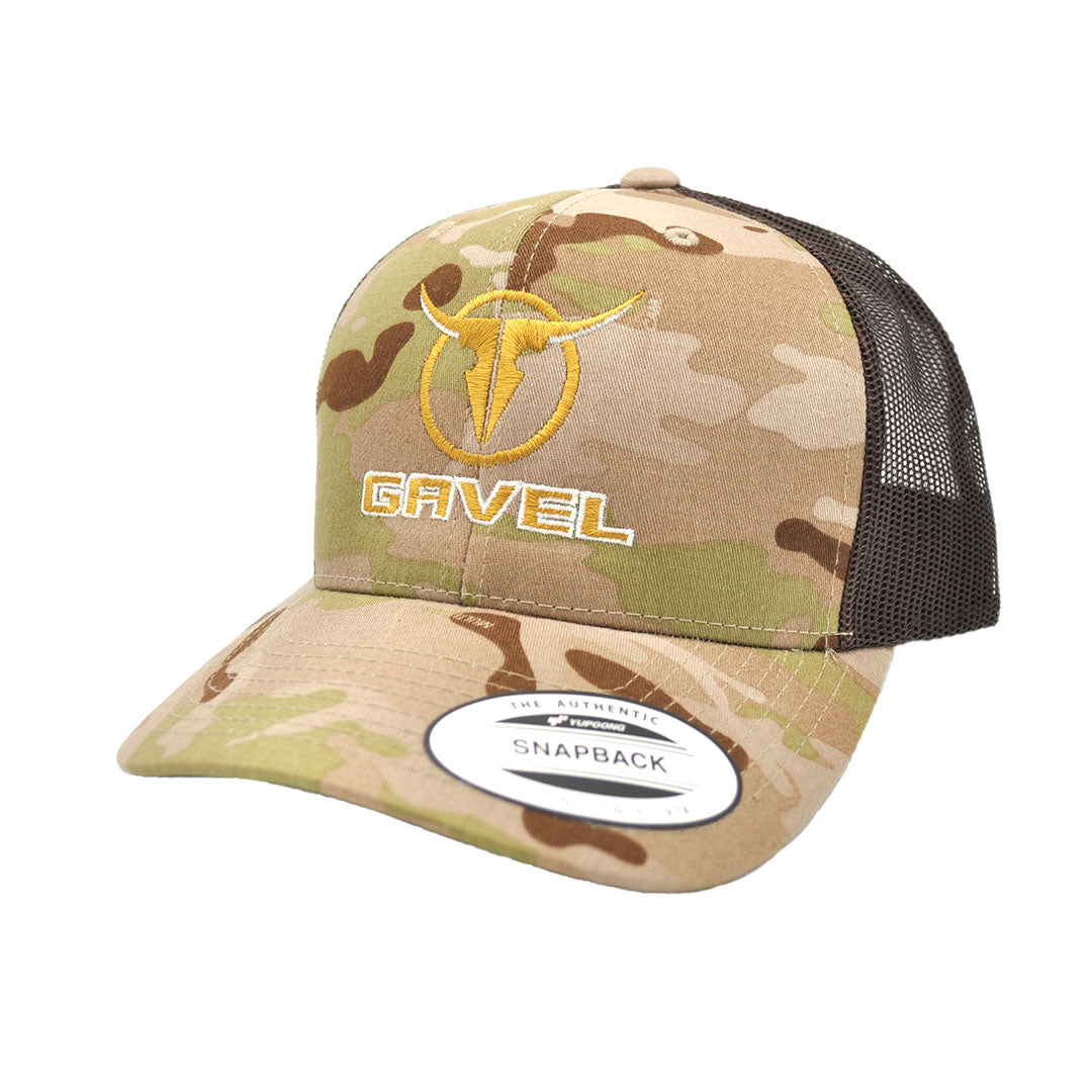 Gavel Yupoong Retro Brown Camo Cap