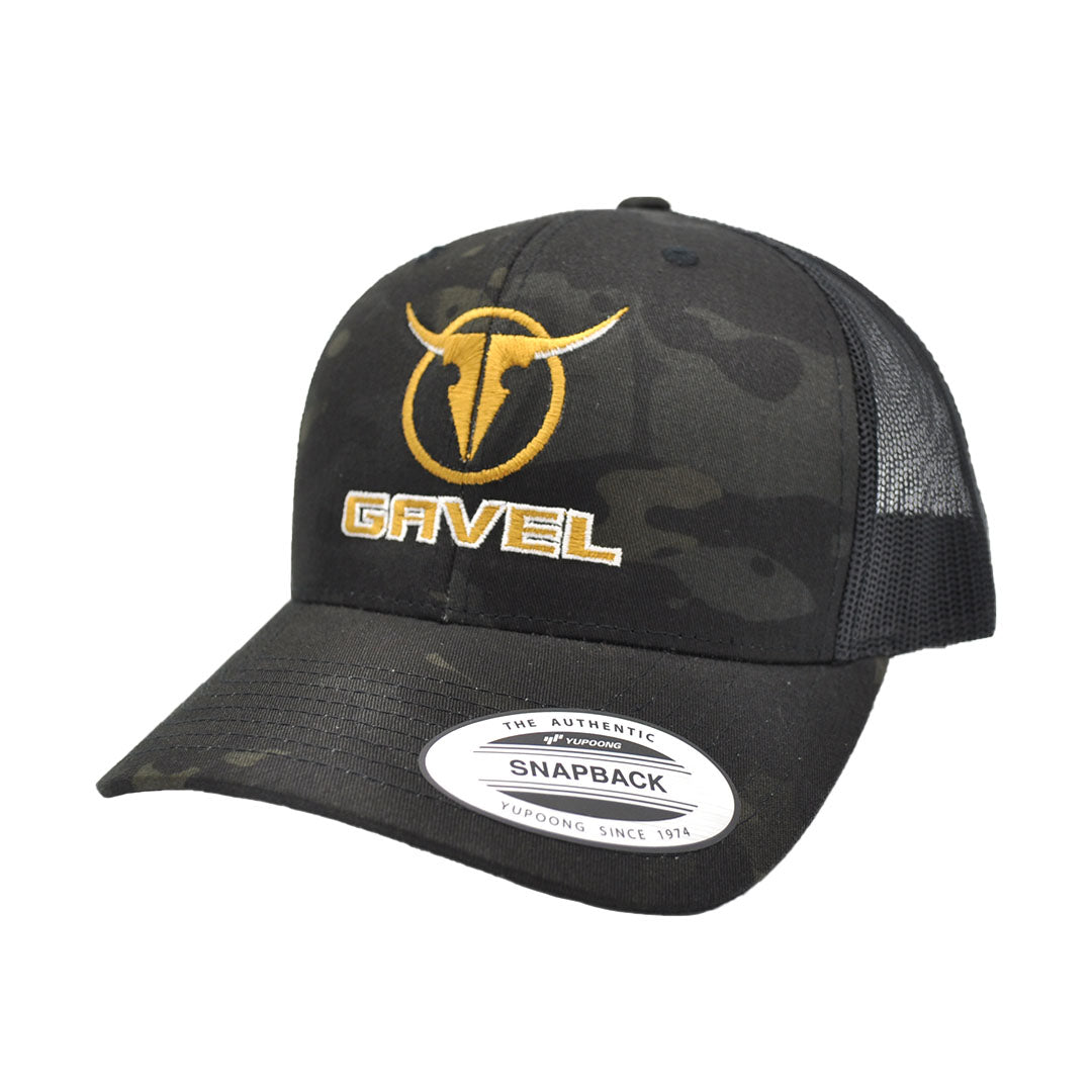 Gavel Yupoong Retro Black Camo Cap