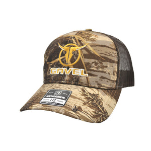 Gavel Logo R112 Realtree Max Brown Cap