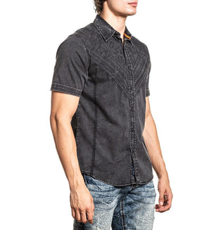 American Fighter Commons Button Down Shirt Black