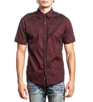 American Fighter Tolerate Button Down Shirt Red