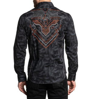 American Fighter Equation Long Sleeve Shirt Black