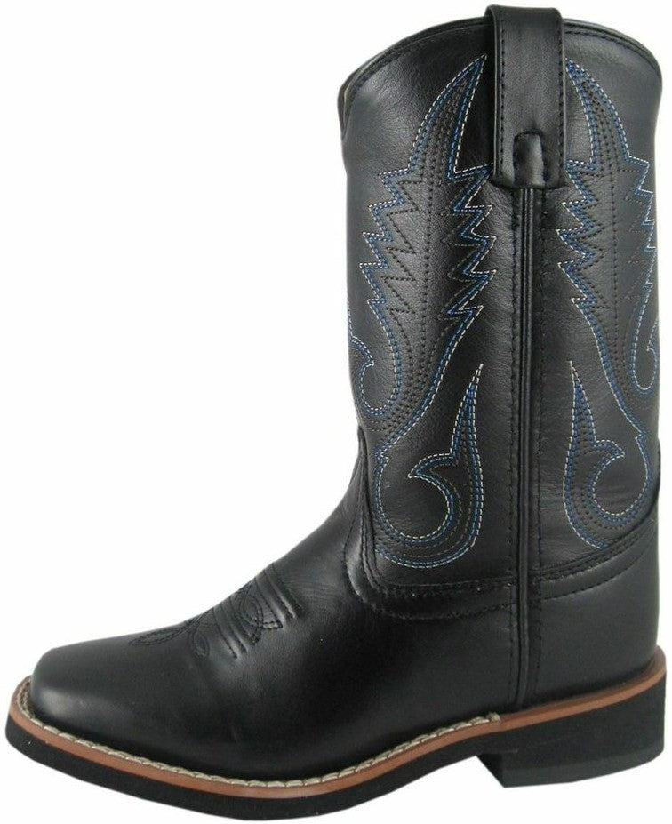 Smoky Mountain Children's Kid's Judge Black Square Toe Boots