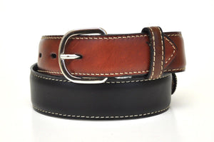 Nocona Kid's Western Leather Longhorn Belt-Black N4413201