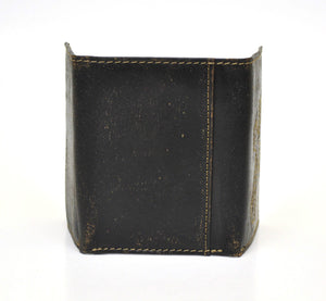 Nocona Cross Overlay Trifold Brown Leather Wallet
