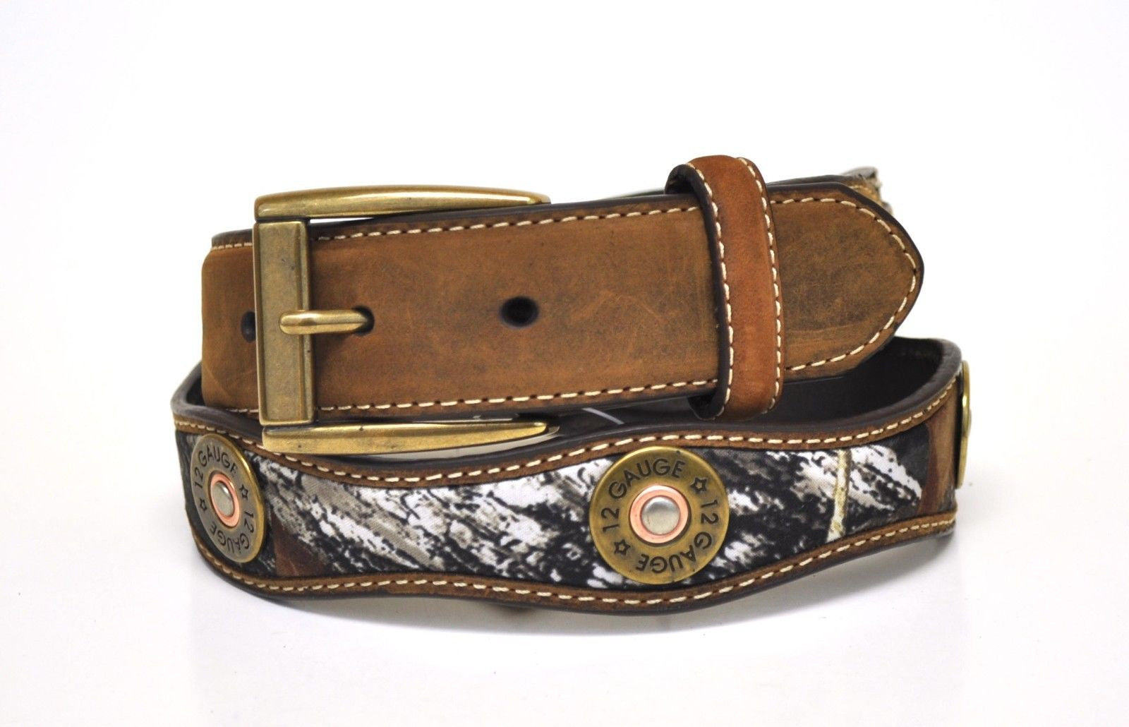 Nocona Kid's Mossy Oak Print Leather Belt-Camo-N44182222