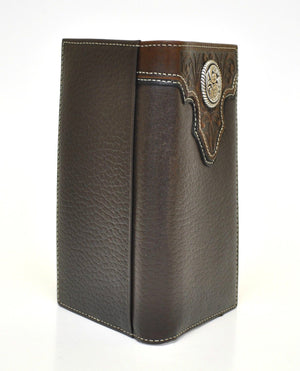 Ariat Rodeo Genuine Leather Western Men's Wallet w/Concho