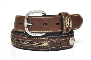 Nocona Kid's Western Leather Belt-Black-N4415801
