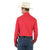 Wrangler Men's Sport Western Long Sleeve Snap Shirt Red