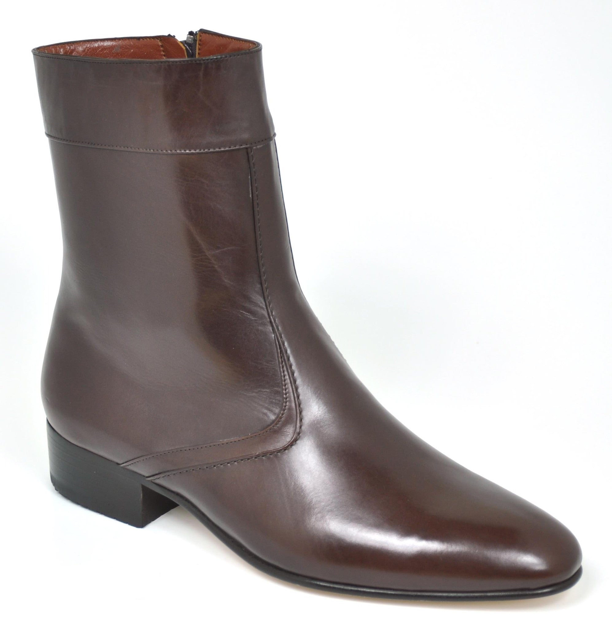 Gavel Men's Calfskin Leather Dress Boot Brown 0901