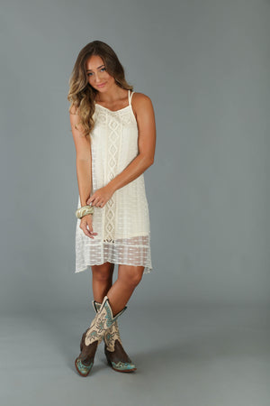 Wrangler Western Fashion Sleeveless Crochet Dress