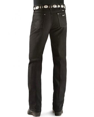 Wrangler Men's Cowboy Cut Silver Edition Slim Fit Jean Black