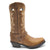 Luma Antonia Women's Tan With Cross Embroidery Square Toe Boots