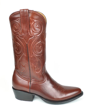 Denton Goat Classic Western Boots -Budapest Brown