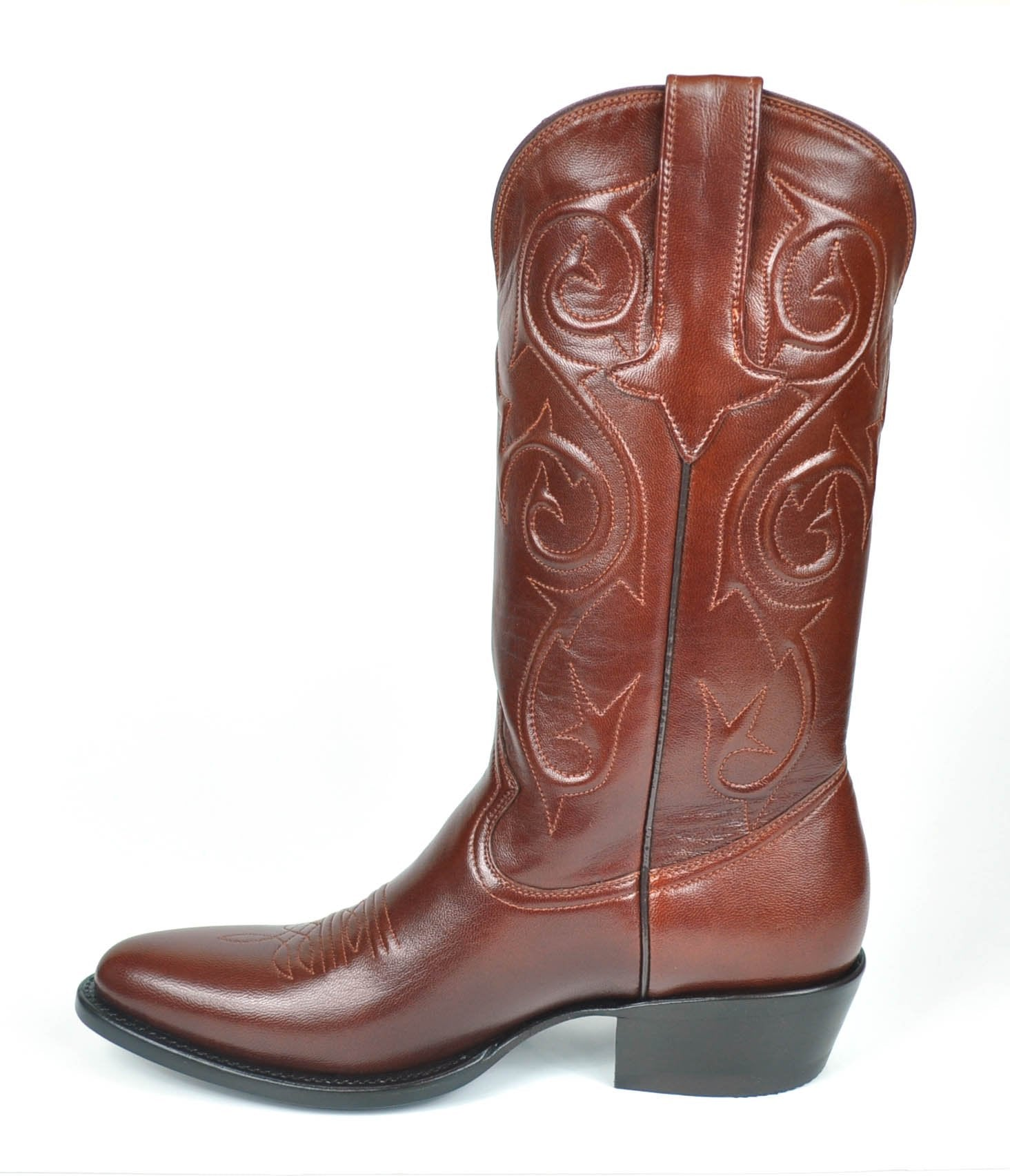 brand new 7dd5a 3e821 Denton Goat Classic Western Boots -Budapest Brown
