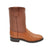 Gavel Men's Galveston Smooth Ostrich Roper Boots - Cognac