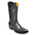 Gavel Men's Cameron Full Quill Ostrich Boots -Black
