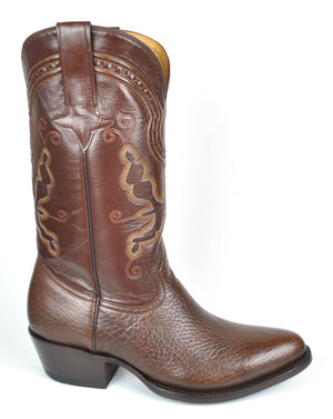 Gavel Men's Marcos Bullhide Classic Western Boots - Brown