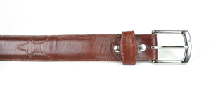Gavel Men's Goat Skin Belt - Budapest Brown