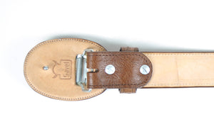 Gavel Smooth Ostrich Western Belt -Tobacco