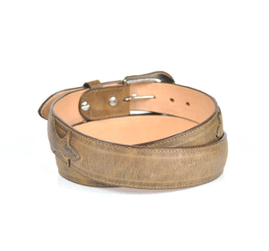 Gavel Men's Crazy Horse Leather Western Belt - Alamo Brown