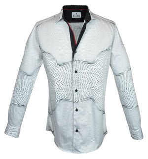 Steelo Delray White Fashion Dress Shirt