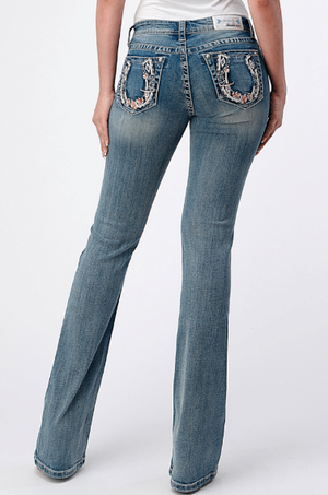 Grace in LA Horseshoe Bootcut Jeans