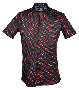 Gavel Men's Ferrol Red Fashion Dress Shirt