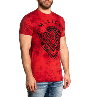 American Fighter Rocklake T-Shirt Red