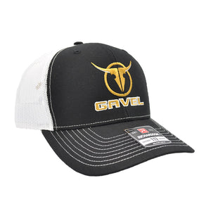 Gavel Logo R112 Black/White Cap