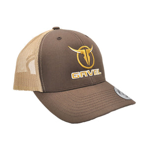 Gavel Logo Yupoong Brown/Khaki  Cap