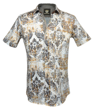 Gavel Men's Malaga Brown Fashion Dress Shirt