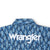 Wrangler Men's Logo Long Sleeve Snap Shirt Blue