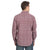 ROCK 47 by Wrangler Men's Snap Burgundy Paisley Shirt