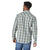 Wrangler Men's Fashion Long Sleeve Green Plaid Snap Shirt